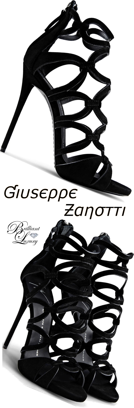 Brilliant Luxury ♦ Giuseppe Zanotti Circle Cutout Sandals