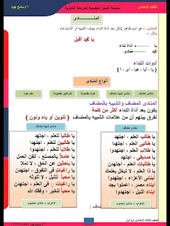 قواعد النحو والاعراب الصف الثالث الاعداداى الترم الاول + الكشف في المعجم