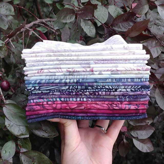 Plum Pudding fabric by Island Batik