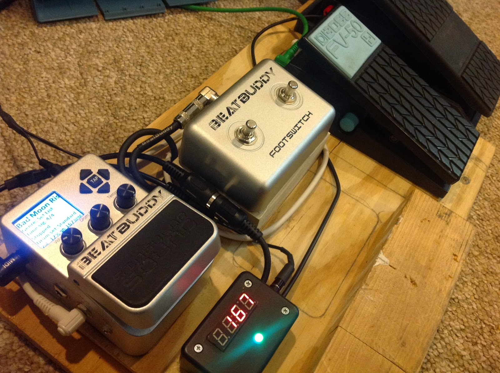 Hooked On Arduino Raspberry Pi Part 1 Hardware Design Beatbuddy Pedal Board Wiring Ive Created An Inexpensive But Very Functional Shown Below With Volume And Tempo Pedals