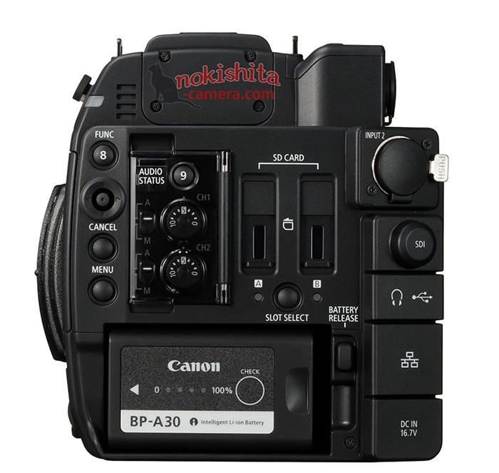 Canon EOS C200, вид сзади