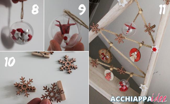 Tutorial3 Sfere con origami e mollette con fiocchi di neve