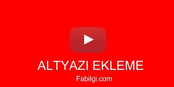 Youtube Altyazı Ekleme Programı İndir İstediğiniz Dilde Çeviri