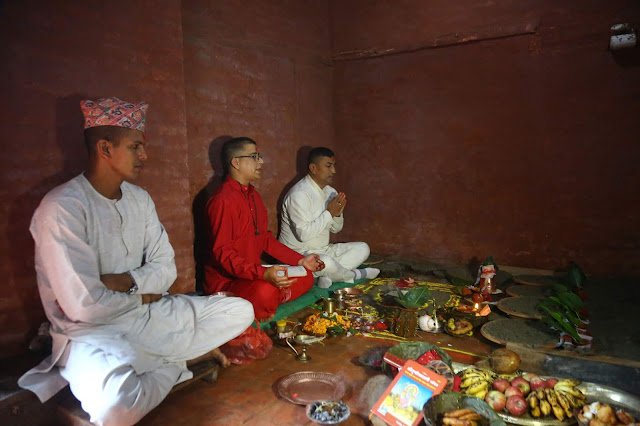 Jamara sowed at Dashain Ghar in Gorkha