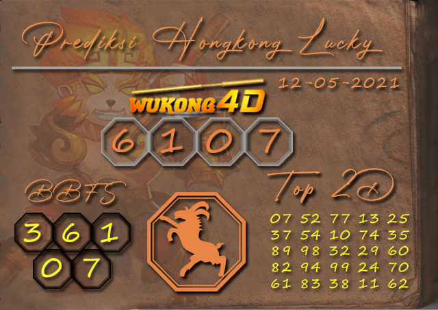 PREDIKSI TOGEL HONGKONG LUCKY7 WUKONG4D 12 MEI 2021