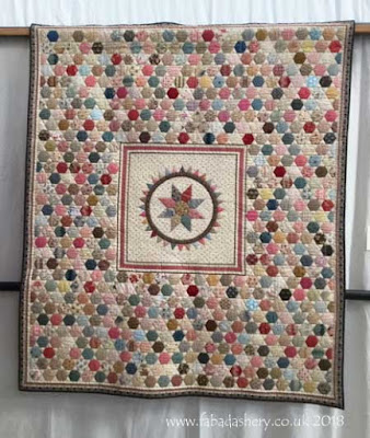 'Hexagon Medallion' by Pippa Cottrell Little Coxwell Quilters - Feature Display at Spalding, December 2018