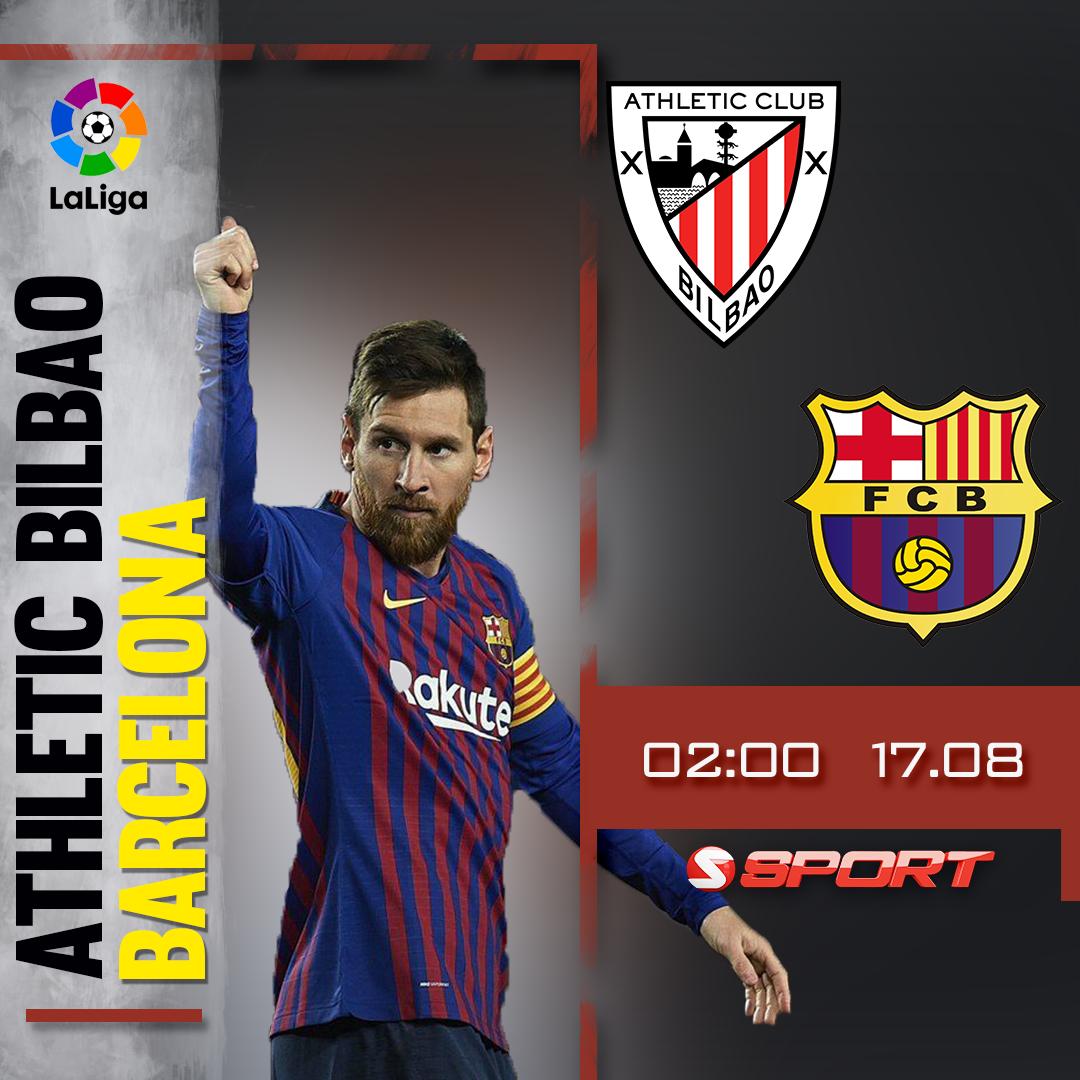 Vòng 1 La Liga: Athletic Bilbao - Barcelona lúc 2h00 trên SSPORT - SCTV17 ngày 17/8