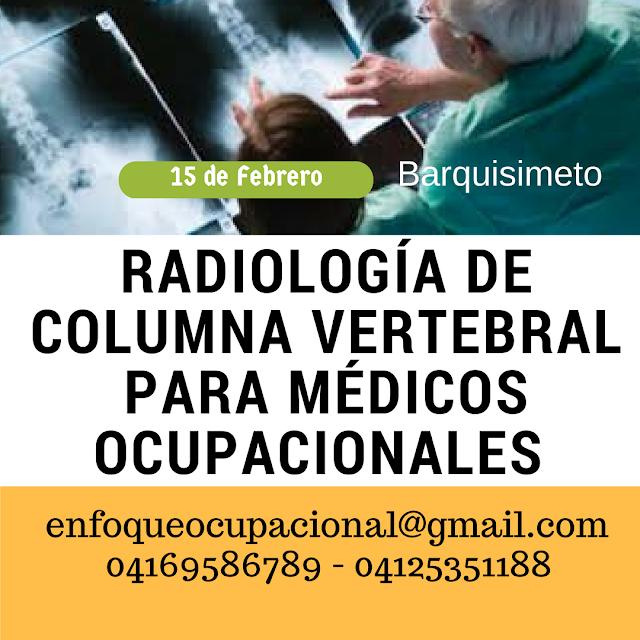 Radiologia, Columna vertebral, medicos ocupacionales