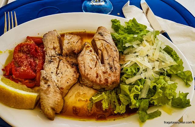 Prato de atum servido na Ilha do Sal, Cabo Verde