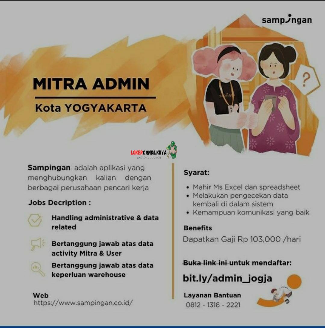 Lowongan Kerja Mitra Admin Sampingan Yogyakarta