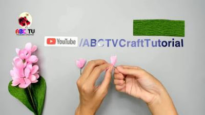 cara membuat bunga kertas yang mudah