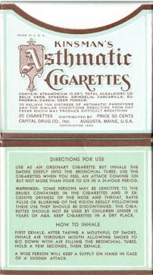 Kinsman's Asthmatic Cigarettes