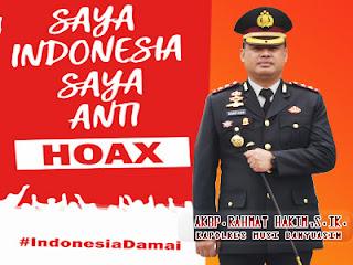 AKBP Rahmat Hakim: Polres Muba Anti Hoax