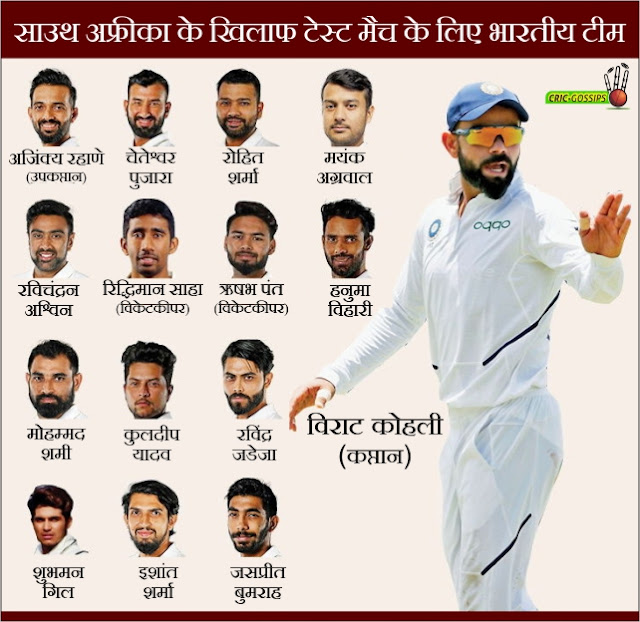 Indian Team Announced