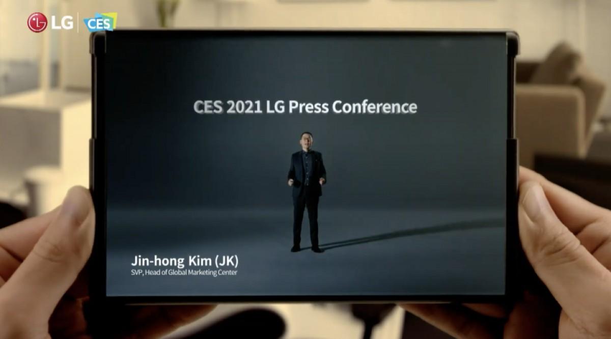 LG mostra il suo smartphone Rollable al CES 2021