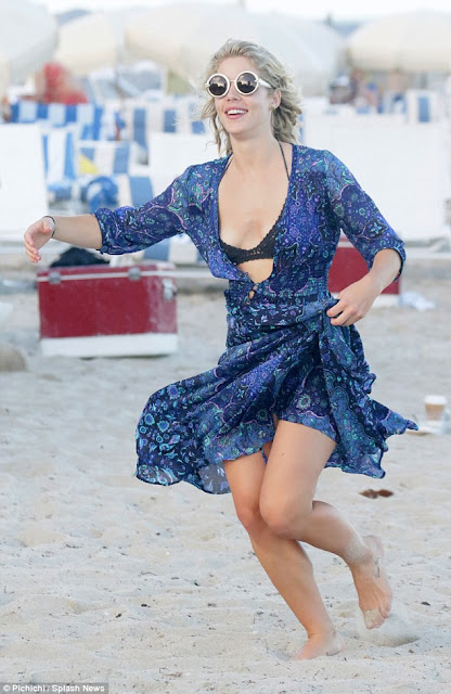 Actress, @ Emily Bett Rickards - At the beach in Miami