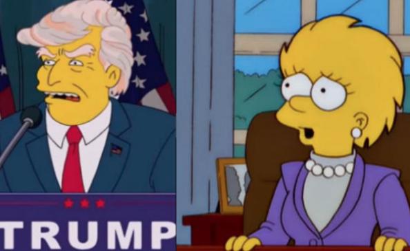 Lisa Simpson Trump