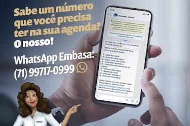 Embasa reativa o atendimento via WhatsApp