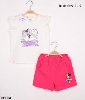 Bộ Short bé gái in Mickey Size lớn
