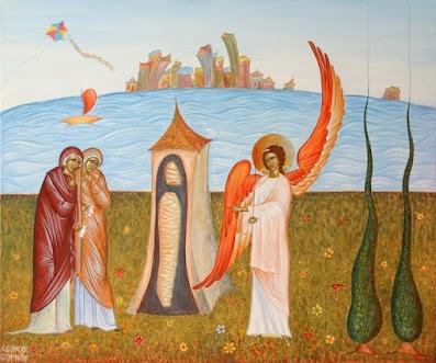 πίνακας ζωγραφικής «Ούκ έστιν ώδε»  Δια Χειρός Μπάμπη Πυλαρινού