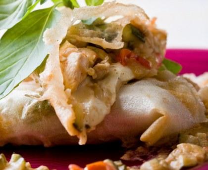Italian-style chicken papillottes