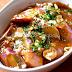 Salteado de berenjenas chinas con salsa de ajo. Receta