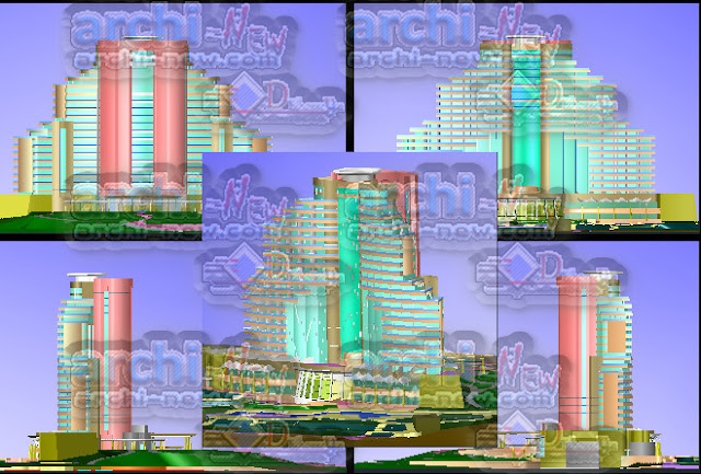 download-autocad-cad-dwg-file-Elevations-of-plant-Hotel-5-star-Model