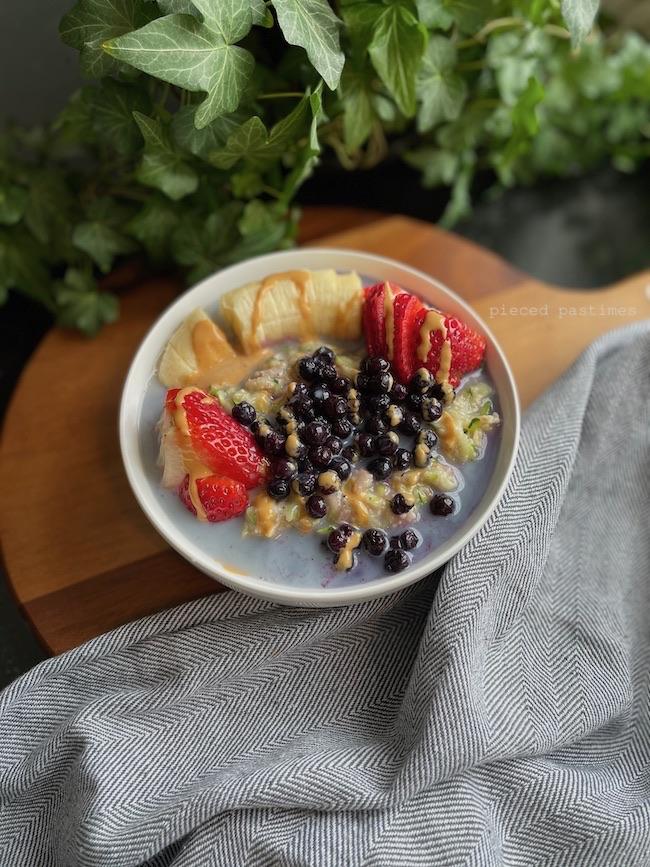 Berry Zucchini Oats aka Zoats at Pieced Pastimes