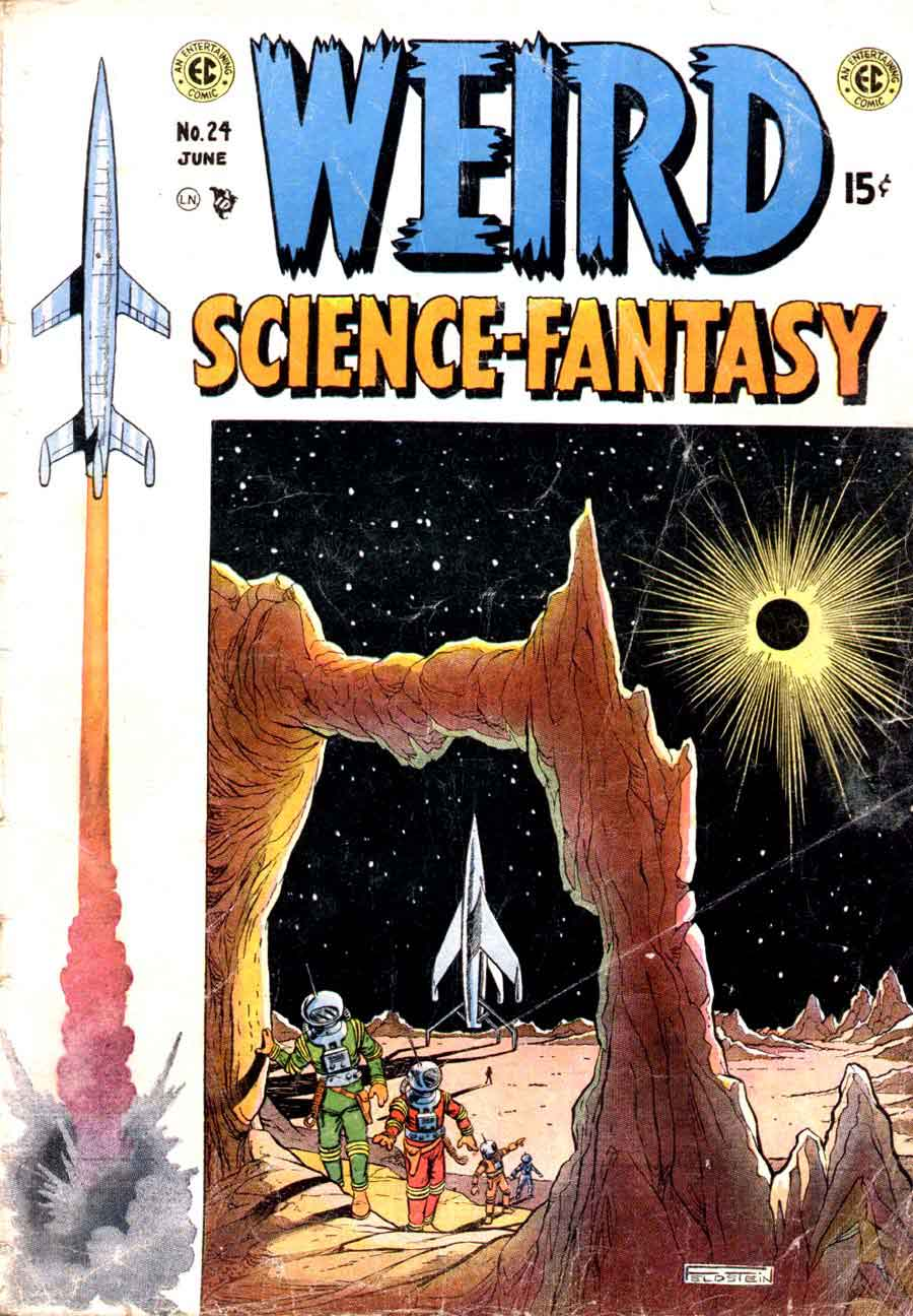 Weird Science-Fantasy v1 #24 ec comic book cover art by Al Feldstein