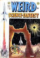Weird Science-Fantasy v1 #24 ec comic book cover art by Al Feldstein