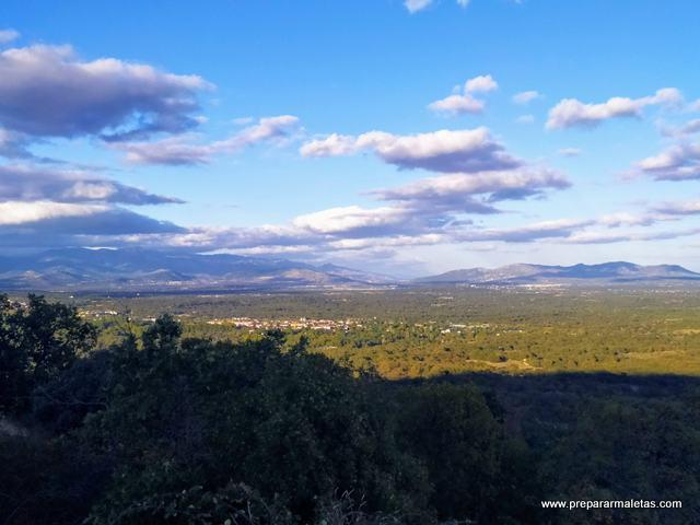 vistas de la sierra de Guadarrama Machotas