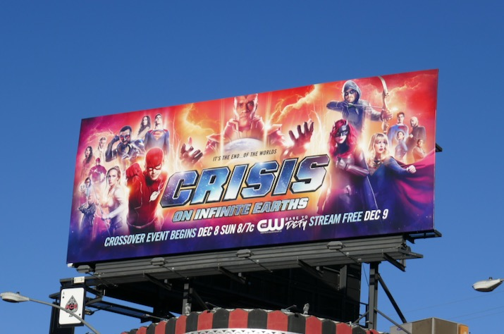 Crisis on Infinite Earths Arrowverse 2019 crossover billboard