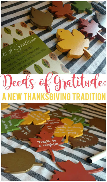 Deeds of Gratitude is a great way to teach your kids more about gratitude and create a new Thanksgiving tradition for your family!