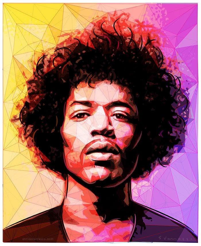 cantante famoso ilustrado digital