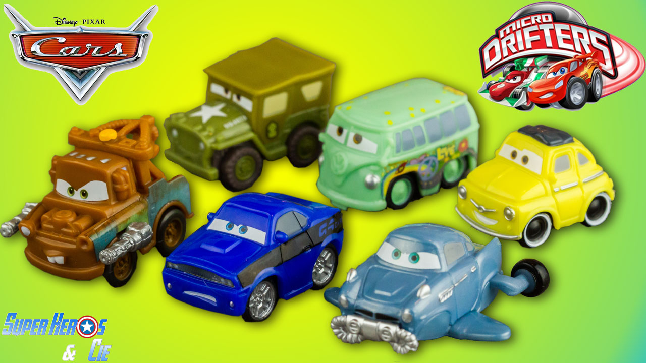 super h ros et compagnie disney cars micro drifters 6 voitures cars 2 radiator springs fran ais. Black Bedroom Furniture Sets. Home Design Ideas