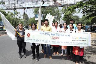 मानव रचना डेंटल कॉलेज के छात्रों ने निकाली जागरुकता रैली
