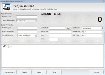Aplikasi Penjualan Barang Dengan Visual Basic 6.0