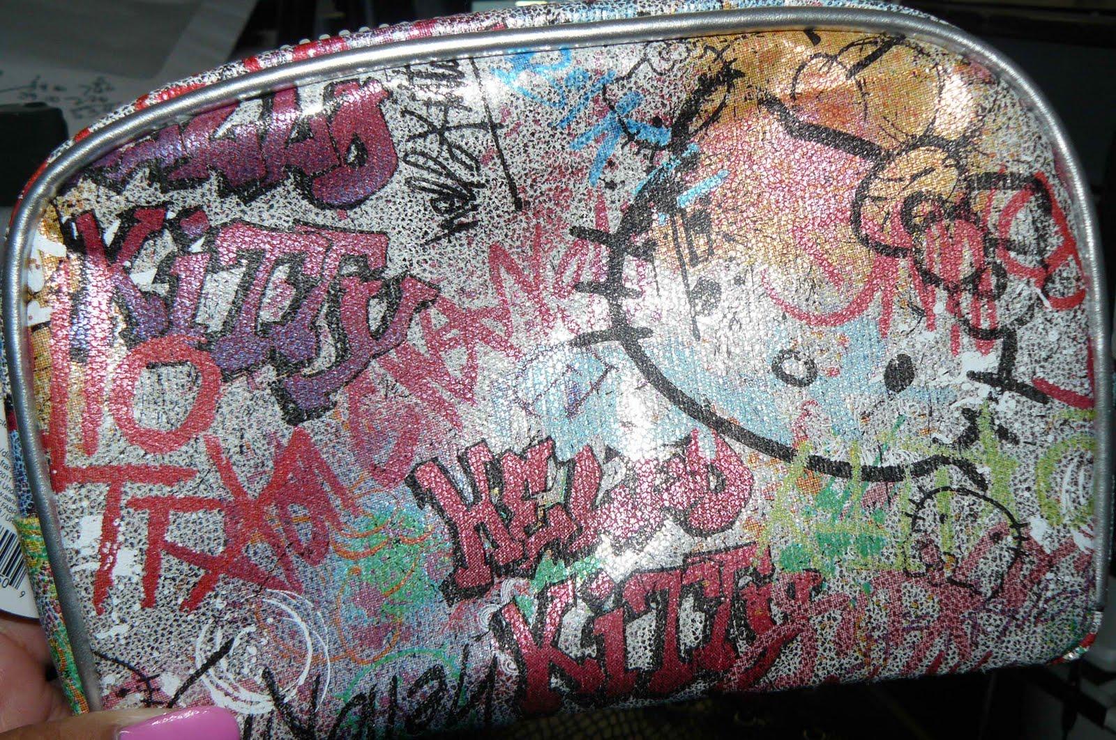 Makeupbyzee Hello Kitty Graffiti Bag