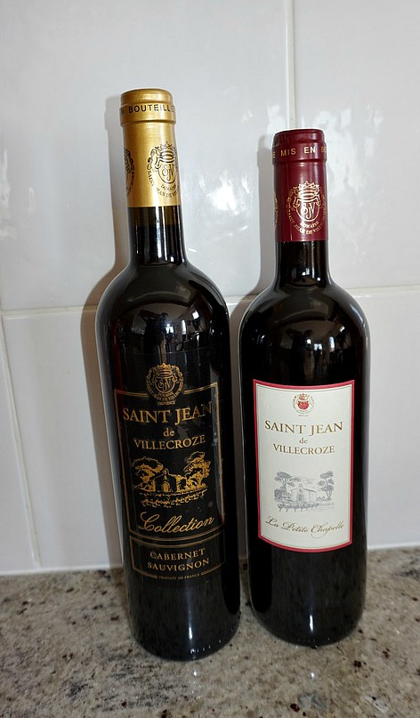 Cabernet Sauvignons purchased at Domaine Saint-Jean Villecroze