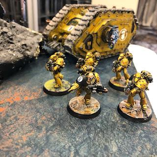 Imperial Fists Seekers Painted, Horus Heres, 30k