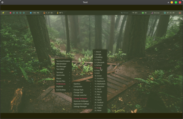 Beautiful Termux Desktop Environment