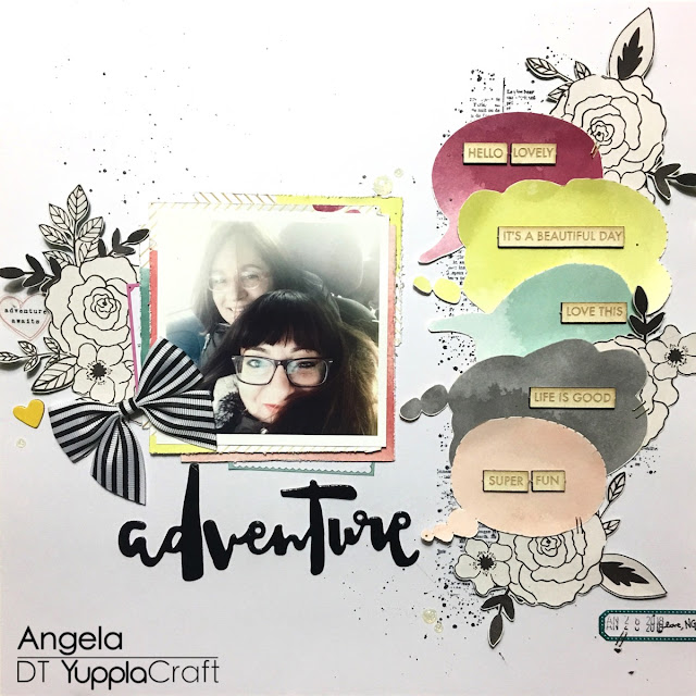 Adventure Scrapbooking Layout by Angela Tombari for Yuppla Craft DT