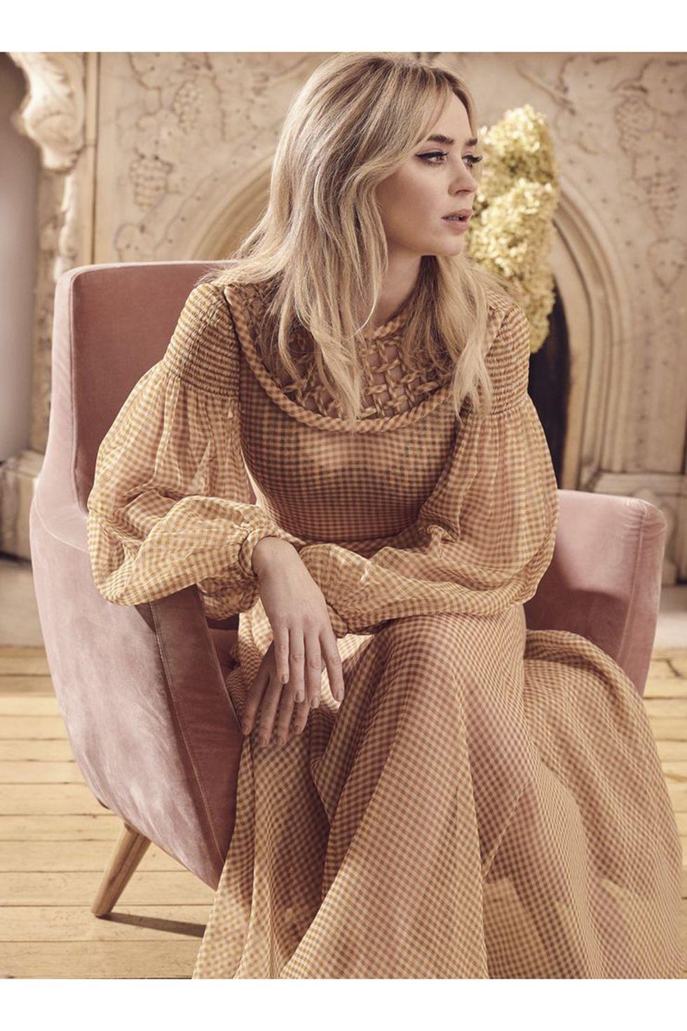 Emily Blunt brings semi-sheer glam in a Fendi dress