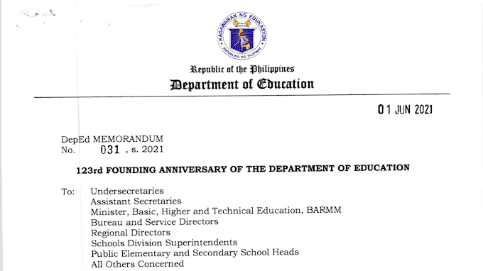 DepEd to Celebrate 123rd Founding Anniversary [Download the official streamer and see list of activities]