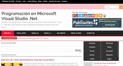 Blog de Programación Visual Studio .Net