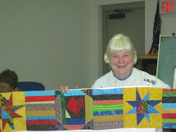 Karen with fab colors and hoochy blocks...love this!