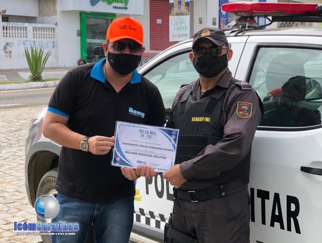 Subtenente Tárcio Fernandes recebe prêmio de Melhor Policial Militar de Campo Grande