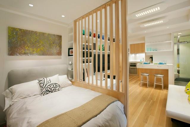 Vách ngăn phòng ngủ bằng gỗ 03