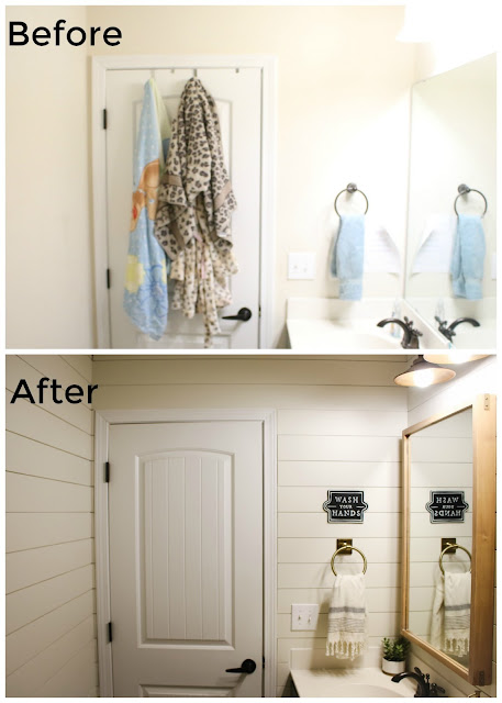 bathroom makeover on a budget before and after