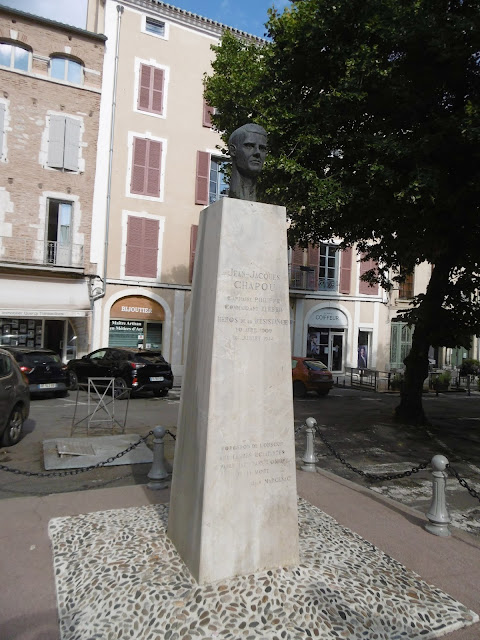 Memorial to Jacques Chapou, Cahors, Lot, France. Photo by Loire Valley Time Travel.